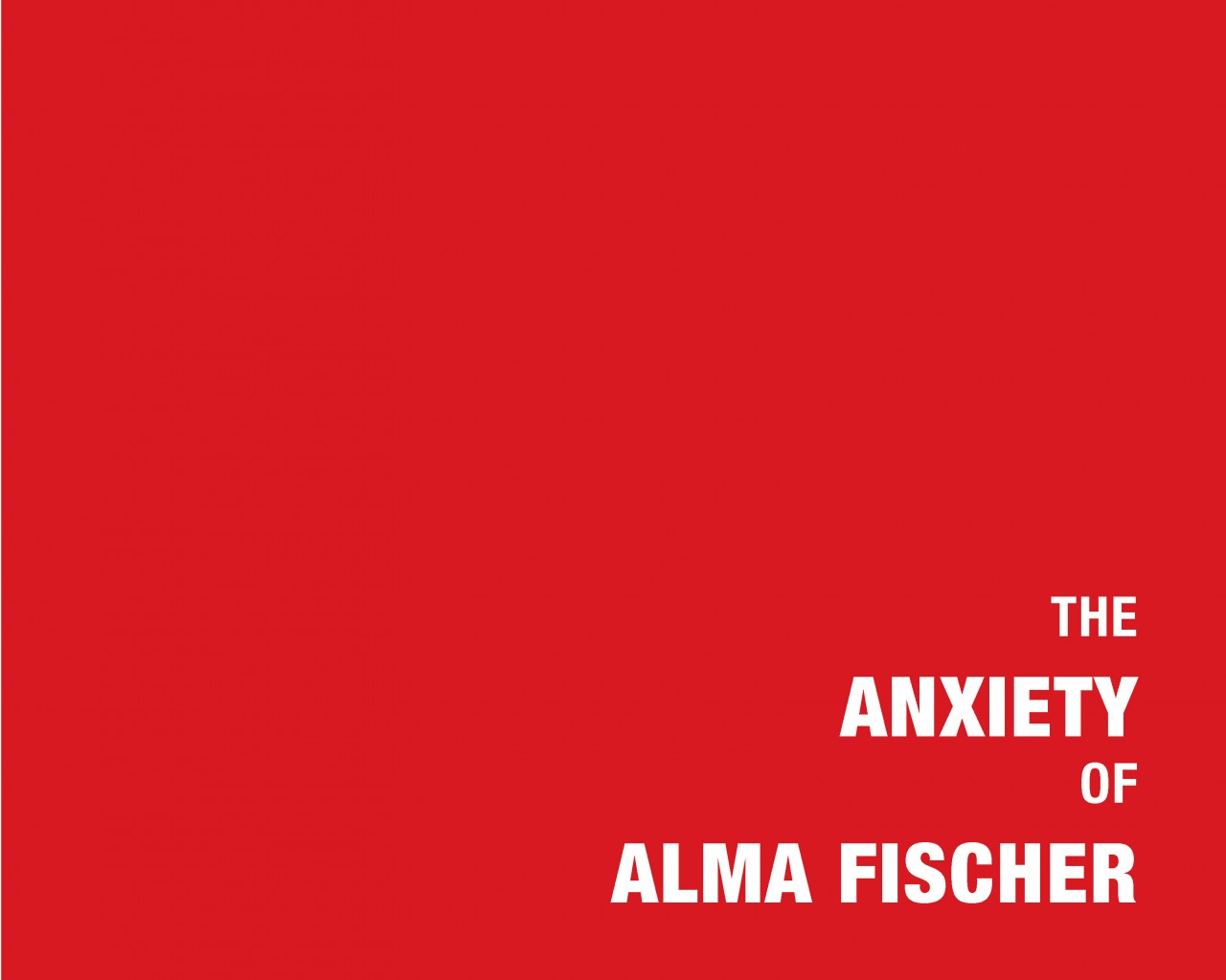Preview Image 1 for The Anxiety of Alma Fischer: A Webcomic About Anxiety, Depression & Obsessive-Compulsive Disorder